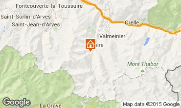 Map Valloire Apartment 3371
