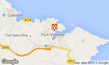Map Port Vendres Apartment 41483