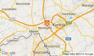 Map Kortrijk Self-catering property 80282