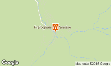 Map Pralognan la Vanoise Apartment 44329