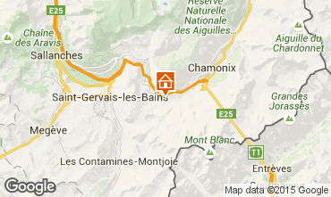 Map Les Houches Apartment 101211