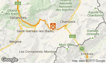 Map Les Houches Apartment 101211