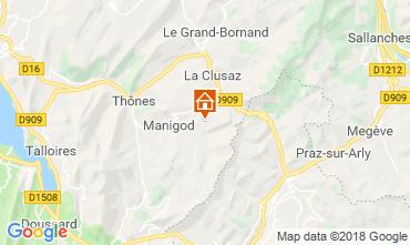 Map La Clusaz Apartment 29716
