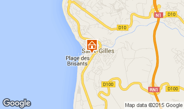Map Saint Gilles Studio apartment 97488