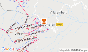 Map Le Corbier Studio apartment 1015