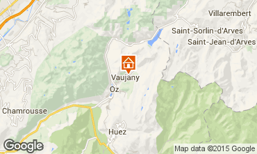 Map Vaujany Apartment 3330