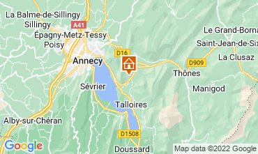 Map Annecy Apartment 67836