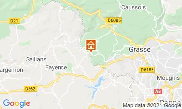 Map Grasse Villa 111723