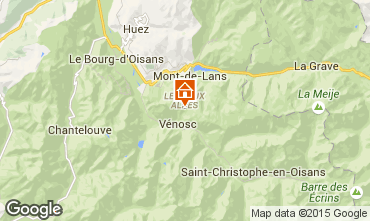 Map Les 2 Alpes Chalet 60919