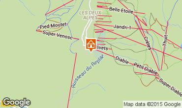 Map Les 2 Alpes Chalet 60919
