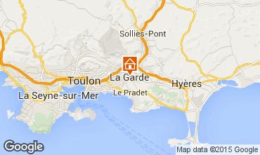 Map Hyères Studio apartment 29315