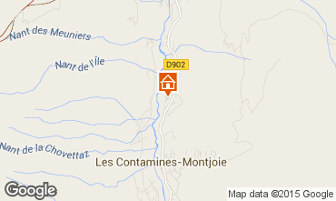 Map Les Contamines Montjoie Chalet 978