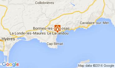 Map Le Lavandou Studio apartment 105610
