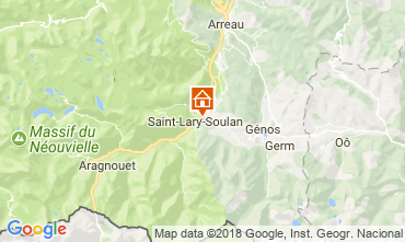 Map Saint Lary Soulan Self-catering property 112160