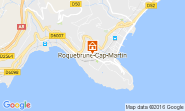 Map Roquebrune Cap Martin Studio apartment 94016