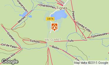 Map Tignes Apartment 3085