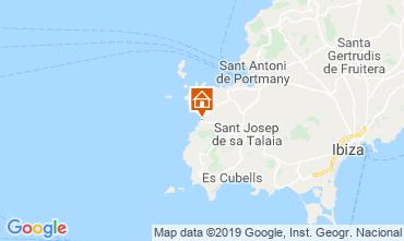 Map Cala Tarida Apartment 118637