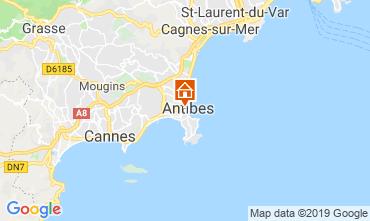 Map Antibes Apartment 118703