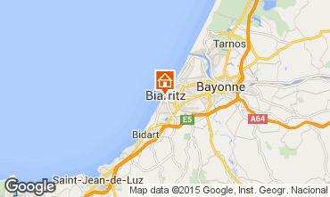 Map Biarritz Apartment 15014