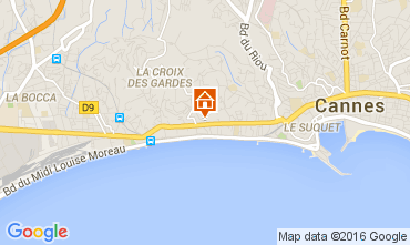 Map Cannes Apartment 88211
