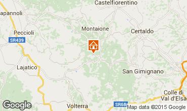 Map Gambassi Terme Apartment 58105