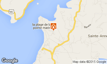 Map Sainte Anne (Martinique) Studio apartment 84011