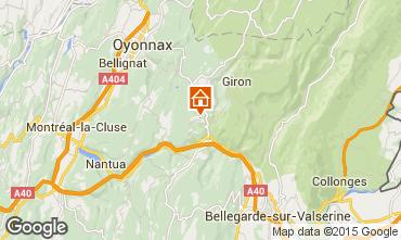 Map La Plagne Apartment 74065