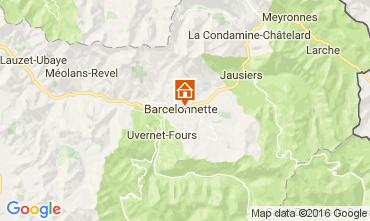 Map Barcelonnette Apartment 4863