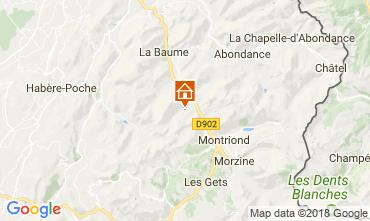 Map Saint Jean d'Aulps- La Grande Terche Apartment 57386