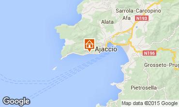 Map Ajaccio Studio apartment 7821
