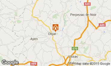 Map Brive-la-Gaillarde Self-catering property 96397