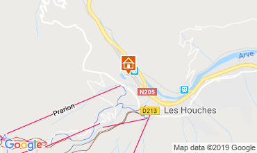 Map Chamonix Mont-Blanc Studio apartment 117797