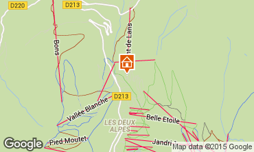 Map Les 2 Alpes Apartment 1242