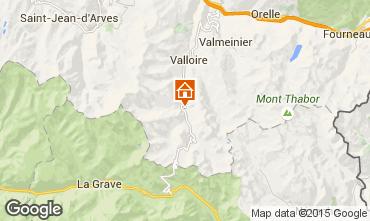 Map Valloire Apartment 3378