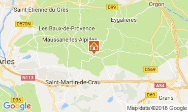 Map Les Baux de Provence Self-catering property 114985