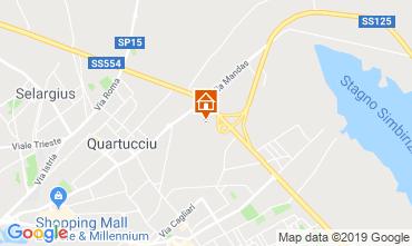 Map Quartu Sant'Elena Apartment 118975