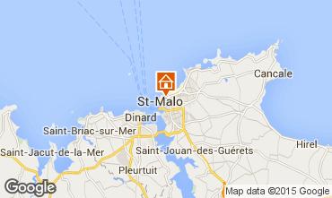 Map Saint Malo Studio apartment 83173