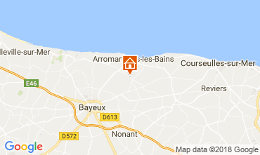 Map Arromanches Self-catering property 102250
