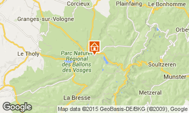 Map Gérardmer Chalet 4579