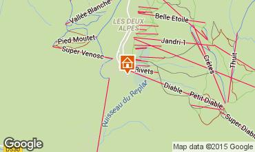 Map Les 2 Alpes Apartment 53010