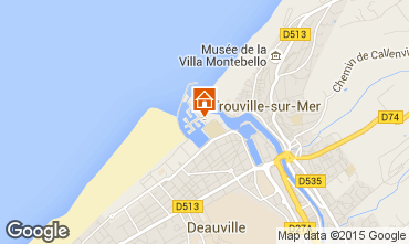 Map Deauville Studio apartment 58454