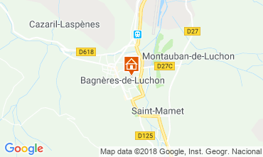 Map Luchon Superbagneres Apartment 111464