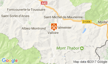 Map Valloire Apartment 3411