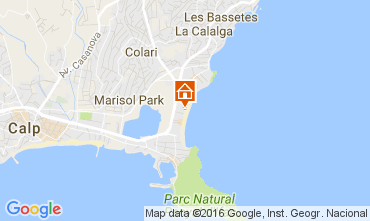 Map Calpe Apartment 106452