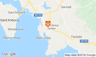 Map Sant'Anna Arresi Apartment 81457