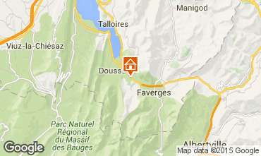 Map Annecy Self-catering property 101226