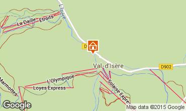 Map Val d'Isère Apartment 3344