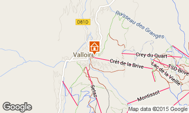 Map Valloire Apartment 63867