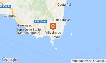 Map Villasimius Apartment 114820