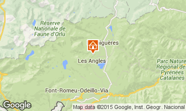 Map Les Angles Self-catering property 4819